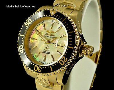Invicta Women's 38mm Grand Diver AUTOMATIC GoldTone & Black Diamond Crown Watch