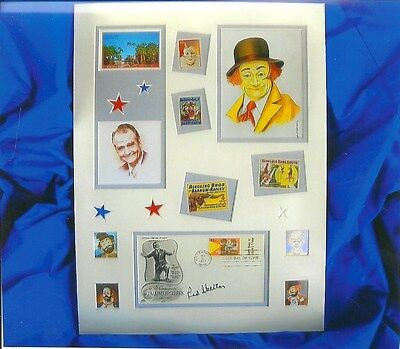 RED SKELTON ART AUTOGRAPHED ORIGINAL SIGNATURE COLLAGE OF FAMOUS PEOPLE
