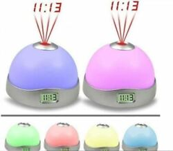 LED Color Changing Digital Alarm Clock with Time Projector for Ceiling