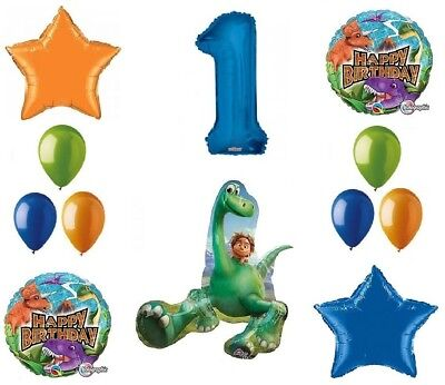 Dinosaur 1st Birthday (Good Dinosaur Dino 1st Birthday Party 12 Pce Mylar & Latex Balloon Bouquet)