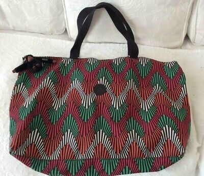 Kipling XL Large Travel, Shopping, Beach, Gym Tote Bag in Tropic Palm Ct