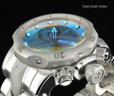 Invicta 52MM Reserve VENOM Tinted Crystal Gray Bezel Chronograph Bracelet Watch