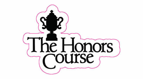 """The Honors Course Logo Decal - 2"""" x 3"""""""
