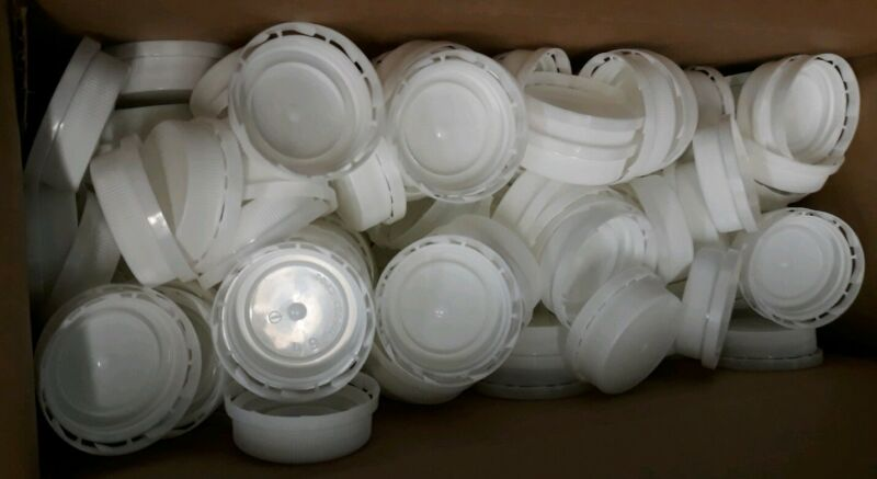 100 38-400 HDPE Plastic Tamper Evident Ratchet Caps Unlined BPA Free FDA Approve