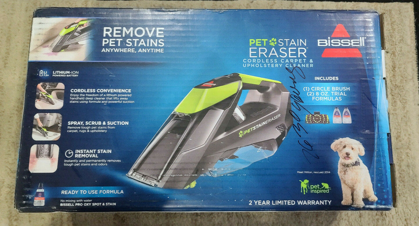 BISSELL Pet Stain Eraser 2003T Cordless Portable Carpet Clea
