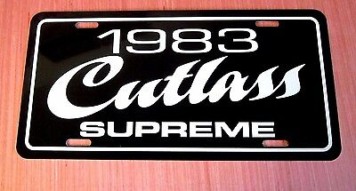 1983 Oldsmobile Cutlass Supreme License plate car  tag 83 Olds