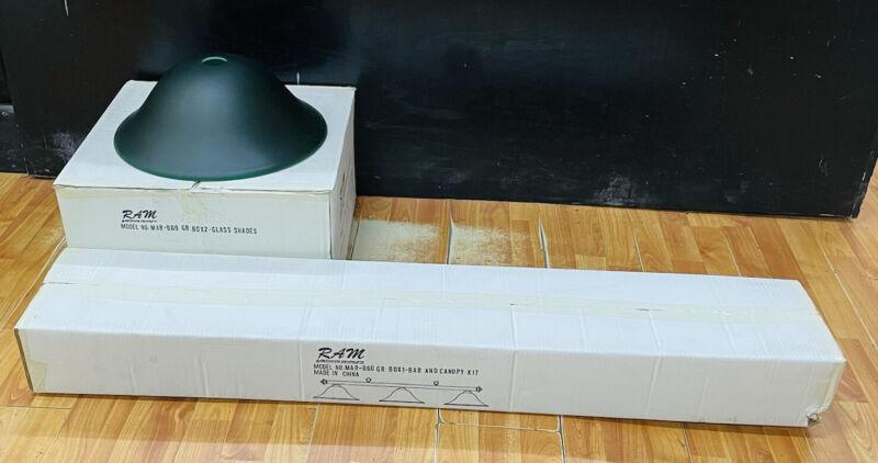 Green & Black Ram MAR-B60 Game Room Pool Table Canopy Wood Light Fixture Kit