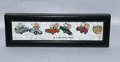 Peanuts Gang Enamel Pin Set Collectors Edition LE 1,000 Snoopy Charlie In Cars