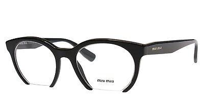 - Brand New Miu Miu Authentic Eyeglasses Frame VMU 09N 1AB-101 Black 50mm