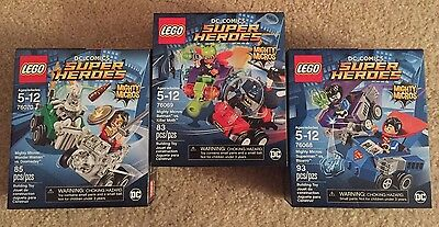 NEW LEGO DC COMICS SUPER HEROES MIGHTY MICROS Lot of 3 - Sets 76068 76069 76070