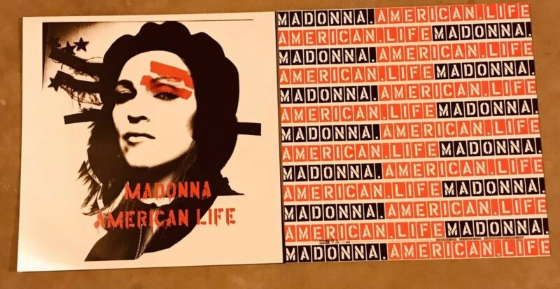 Madonna American Life 2-Sided Promo Poster Flat VeryRare! Mint Condition