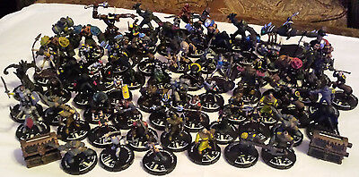 Large Lot Of 65 Miniature Figures for the Mage Knight Miniatures Game