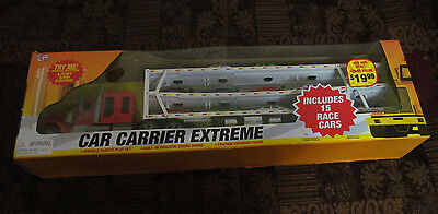 CAR CARRIER EXTREME - CIB - 15 RACE CARS INCLUDED - BOXED -  (Extreme Car Race)
