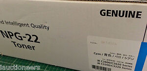Canon NPG-22 Cyan Toner for iR C2600/C2620/C3200/C3220 Series - Genuine NIB