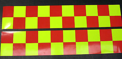 Magnetic Reflective Battenberg Side Reflectors 1500mm Red/Yellow