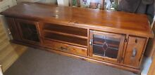 Blackwood Stained Solid Timber TV Unit Sunbury Hume Area Preview