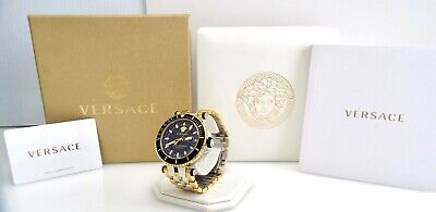 Versace - V-Race VAK040016 - Black & Gold Men's Watch ~#3052