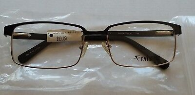 New Fatheadz Men's Vito XL FH/0043 Gold/Black Eyeglasses Eyeglass Frames 61-18