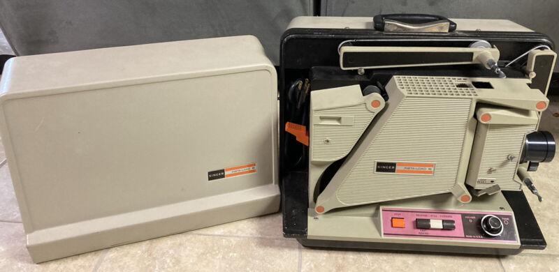 Vtg. SINGER Graflex Instaload16 16mm Sound Film Movie Projector W/Case