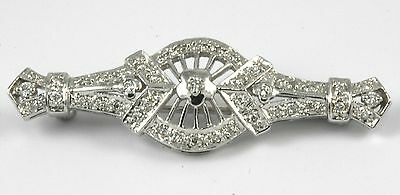 Art Deco Style Diamond Pin 18k white gold w/0.40ct Diamonds