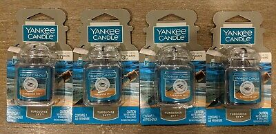 4 Yankee Candle TURQUOISE SKY Car Jar Ultimate Air Fresheners