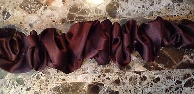Brown Lamp Cord - Decorative Fabric Lamp Cord Cover, Hand Made, Brown 9 Feet Long