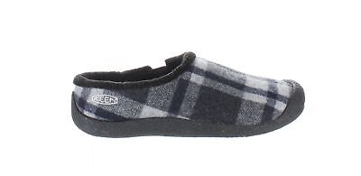 KEEN Womens Howser Black Plaid/Black Mule Slippers Size 8.5