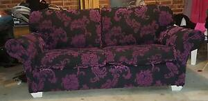 Black & Purple Rose Couch Revesby Bankstown Area Preview