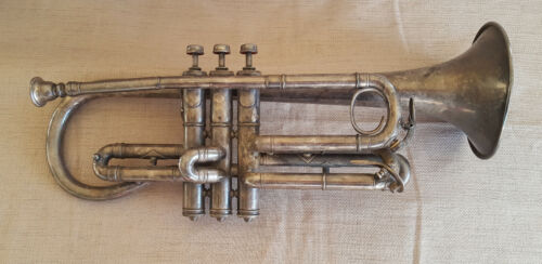 1911 Frank Holton cornet Couturier model New Proportion musical instrument