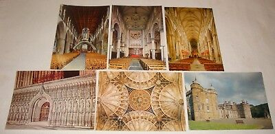 Pitkin Pictorial Postcards – 6 x Church Architecture, 5 Unused, 1960-80's