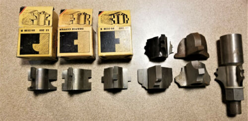 """Qty 8 Shopsmith Shaper Cutter Heads Selection Plus 5/8"""" Arbor. Some Unused!"""