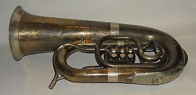 F tuba by Stowasser 1870's to 1880's  Austria Good Playing tuba rotary valves