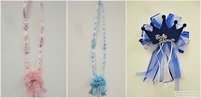 Mommy-to-Be Corsage Sash Baby Shower Decoration Gift Boy/Girl Handmade Pin back