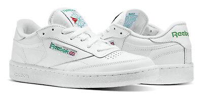 Reebok Classic Club C 85 White, Green Mens Sneakers Tennis Shoes Item AR0456
