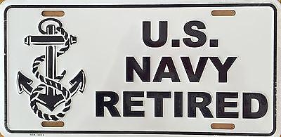 U.S. NAVY RETIRED Premium Embossed License Plate (LP-1109-170)