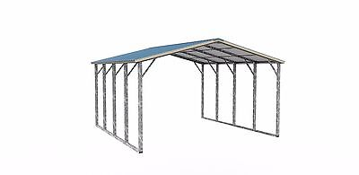 18x21x14 Metal Rv Cover Double-framing V. Roof Free Del. Install.prices Vary