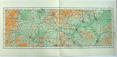 Shropshire Staffordshire & Leicestershire - Original 1922 Ordnance Survey Map.
