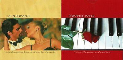 Latin Romance Music 2 CD Spanish Guitar Sax Piano Sexy Piano Instrumental Dance