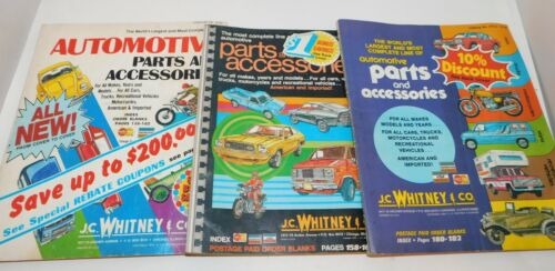 Lot of 3 Vintage JC Whitney Automotive Parts catalogs From 1970s Cars Vans Cycle