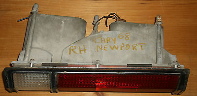 1968 CHRYSLER NEWPORT RIGHT REAR TAIL LAMP ASSEMBLY - USED EOM