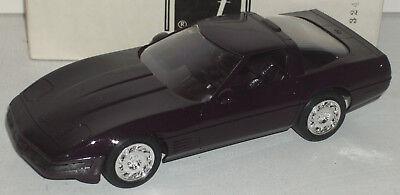 """Plastic Promo Car 1993 Chevrolet Corvette ZR-1 Black 7"""" New in Box"""