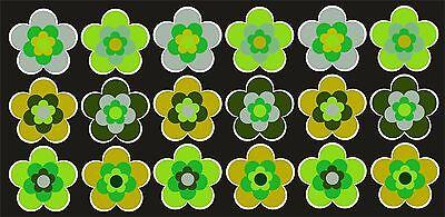 18 Stück ca. 5 cm Retro Retrostyle Blumen Blume Aufkleber AN1542