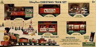 Disney Holiday Christmas Mickey & Friends 30pc Train Set W/ Remote Control - NEW