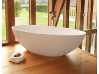 Stunning elliptical freestanding bath