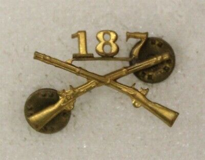 Army Officer's Collar Pin: 187th Glider/Airborne Infantry Regt - Meyer