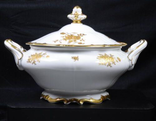 """Antique WEIMER 17010 KATHARINA Germany Fine China: SOUP TUREEN 9""""H x 12""""W"""