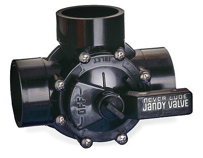 "Jandy 4715 3-Way 1-1/2"" to 2"" Neverlube Positive Seal Swimming Pool Valve"