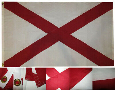5x8 Embroidered Sewn State of Alabama 600D Nylon Flag 5'x8' Heavy Duty Strong