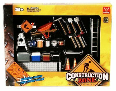 Construction Zone Phoenix Garage Diorama Accessory Set 18425 1/24 Diecast