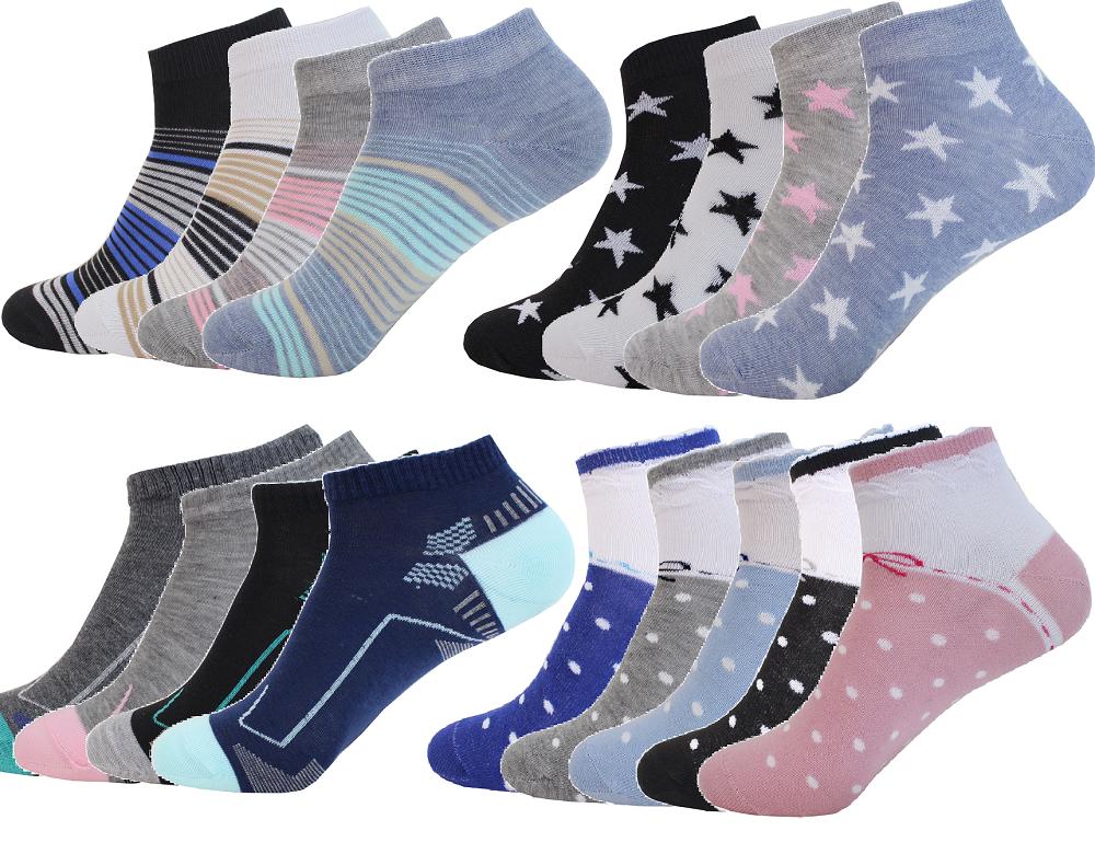 12 Paar Socken Damensocken Kinder Mädchen Kurzsocken Business Sneaker socken